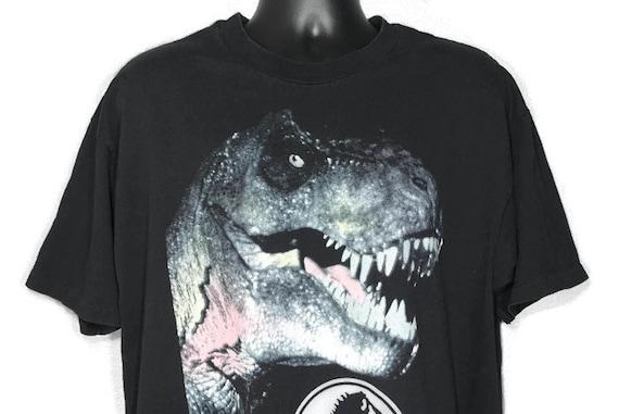 1993 RARE Jurassic Park - Tyrannosaurus Rex T-Rex JP Logo - Vintage T-Shirt