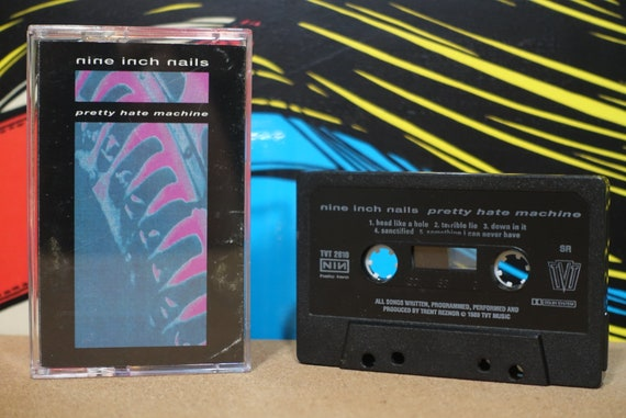 NIN Nine Inch Nails - Pretty Hate Machine Cassette Tape - 1989 TVT Records - Vintage Analog Music