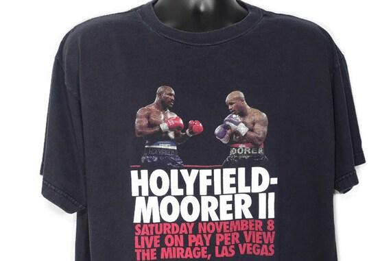1997 Evander Holyfield VS Michael Moorer Fight II November 8th Mirage Las Vegas Boxing Promo Vintage T-Shirt