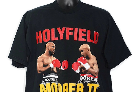 1997 RARE Evander Holyfield VS Michael Moorer Fight - Road To Glory - II November 8th Mirage Las Vegas Boxing Double-Sided Vintage T-Shirt