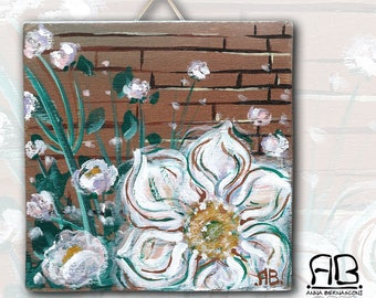 "Painting on wood ""lights blooming"""