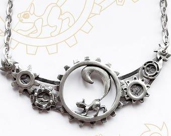 "Pendant ""Steampunk squirrel"". Steampunk (clockpunk) jewelry."