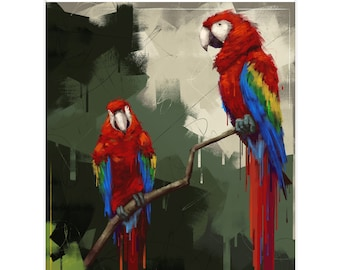 """8.5x11 Limited Edition Print of """"Macaws"""""""