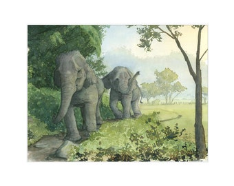 """8.5x11 Limited Edition Print of """"Tusks at Dusk"""""""