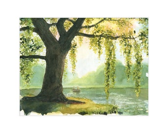 """8.5x11 Limited Edition Print of """"Through the Willow"""""""