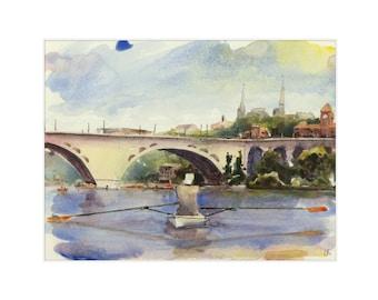 "8.5x11 Limited Edition Print of ""Kayak The Potomac"""