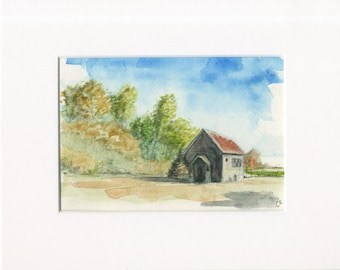 """5x7 Limited Edition Print of """"Rusty Shed"""""""
