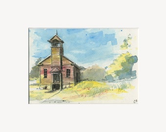"""5x7 Limited Edition Print of """"Old Country Church"""""""