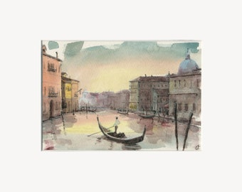 """5x7 Limited Edition Print of """"Sunset Venice"""""""