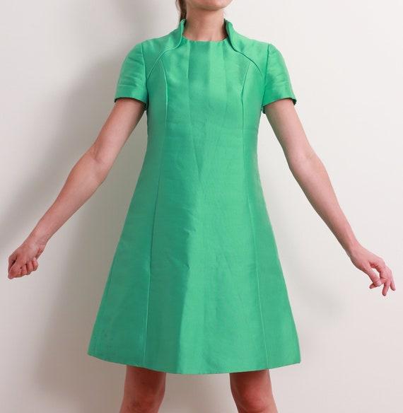 60s Seafoam Space Age Dress / S - image 6