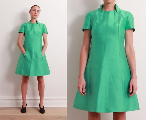 60s Seafoam Space Age Dress / S - image 1