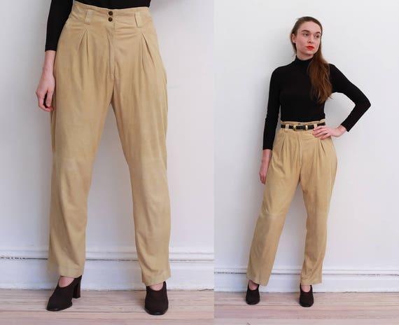 80s Butter Chamois Leather Pants / M
