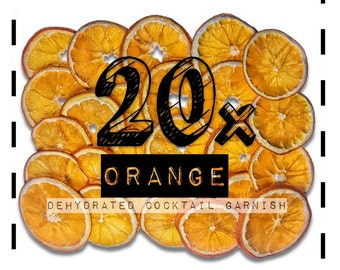 Orange Wheel - Cocktail Garnishes to BUY - Dried / Dehydrated Accessories for Craft Mixology & Vintage Cocktail / Drinks | rohnyc