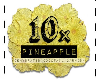 Pineapple Wheel - Cocktail Garnishes to BUY - Dried / Dehydrated Accessories for Craft Mixology & Vintage Cocktail / Drinks | rohnyc