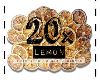 Lemon Wheel - Cocktail Garnishes to BUY - Dried / Dehydrated Accessories for Craft Mixology & Vintage Cocktail / Drinks | rohnyc