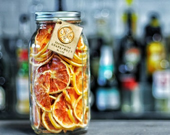 Grapefruit Slices - Cocktail Garnishes to BUY - Dried / Dehydrated Accessories for Craft Mixology Drinks (64 oz Mason Jar) | rohnyc