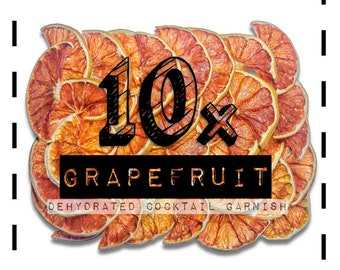 Grapefruit Slice - Cocktail Garnishes to BUY - Dried / Dehydrated Accessories for Craft Mixology & Vintage Cocktail / Drinks | rohnyc