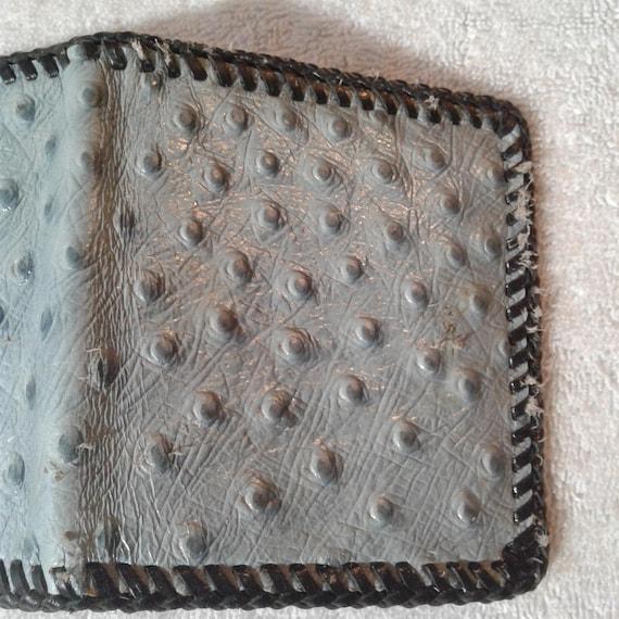 VINTAGE Handmade OSTRICH WALLET, birthday gifts, … - image 7