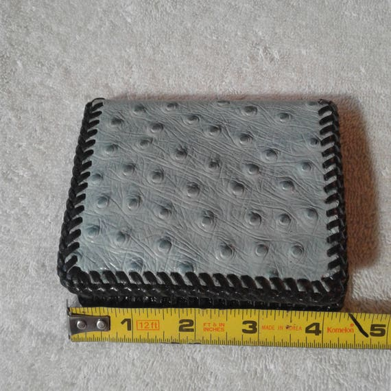 VINTAGE Handmade OSTRICH WALLET, birthday gifts, … - image 10
