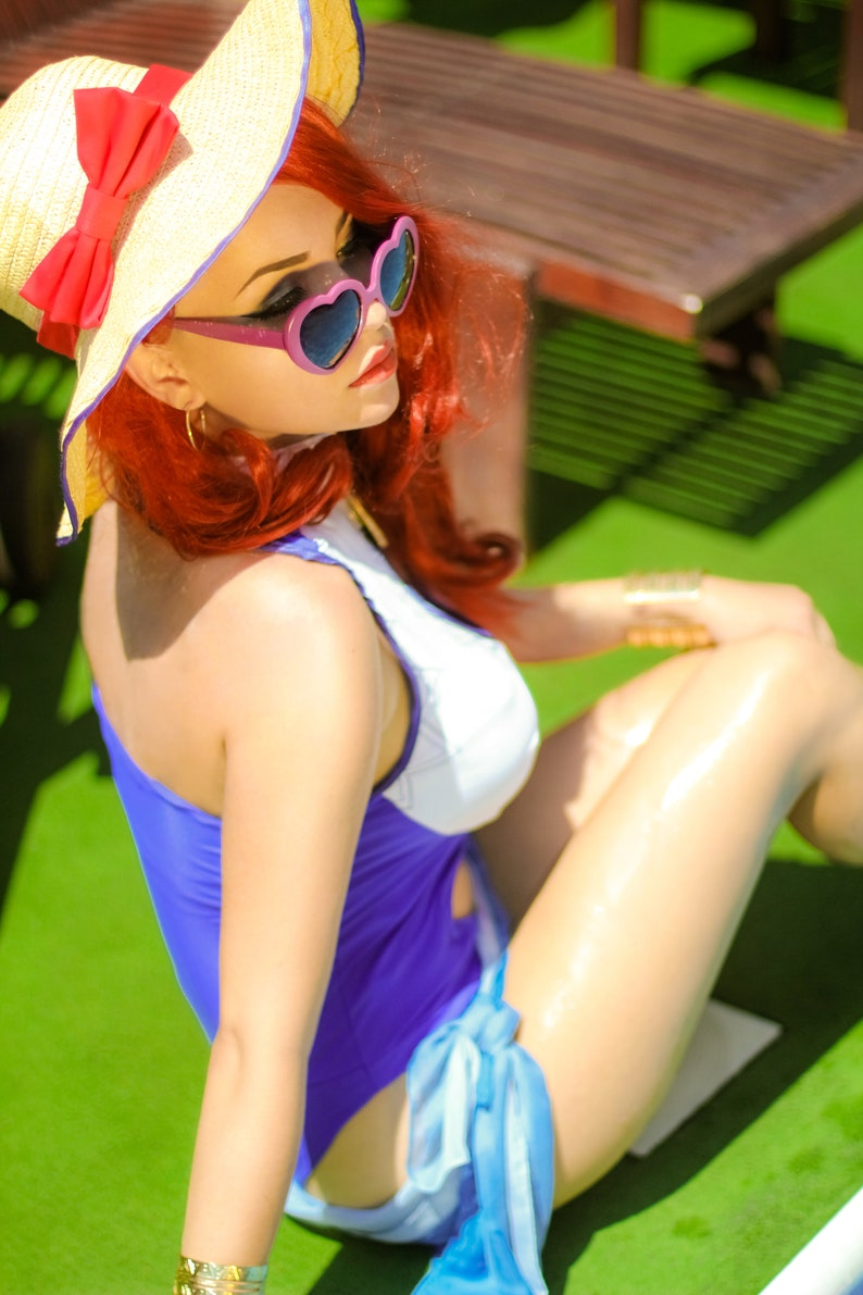 Print costume cosplay Miss Fortune Pool Party League of