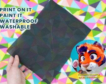 8x10.5in Eye Mesh - Durable Black High Visibility Paintable Printable Waterproof Vinyl Mesh Canvas Curlworks Fursuit Mesh - Raptor Mask Eyes