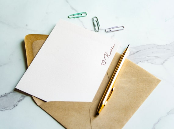 Custom Bodoni Initial  kinship letterpress Personalized stationery