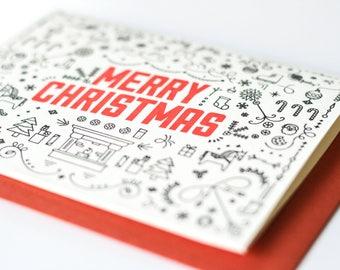 Merry Christmas  - greeting cards // Kinship Letterpress // #CH01