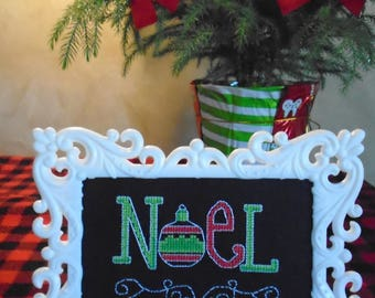 """Counted Cross Stitch Picture """"Noel"""""""