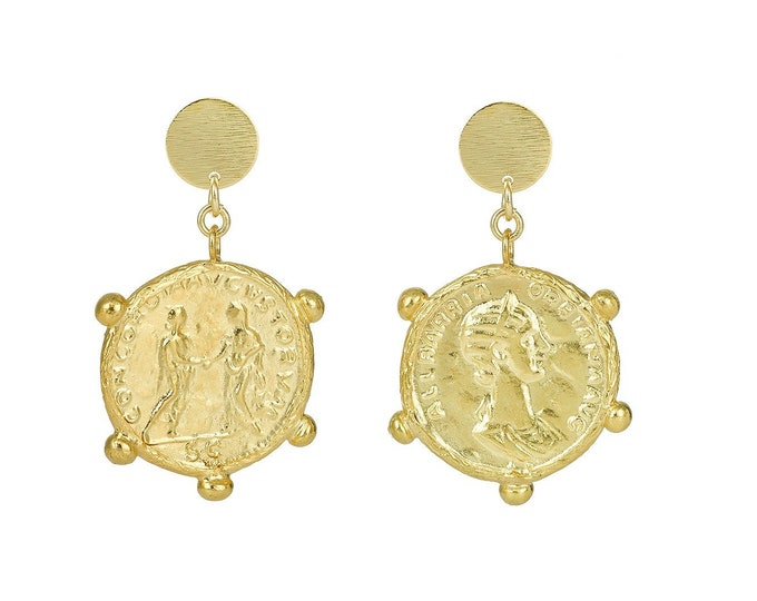 Cesterce gold drop earrings