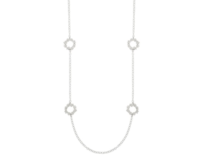 Greta silver long necklace