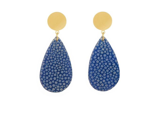 Mini Ondine blue stingray earrings