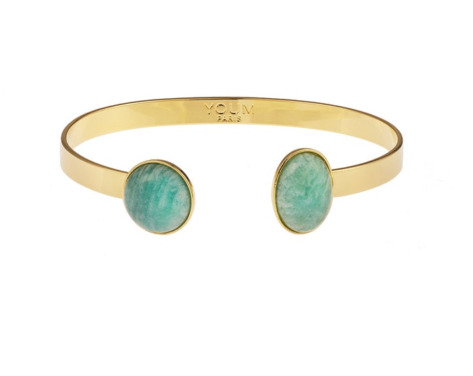 24 carat golden bracelet and Amazon stone