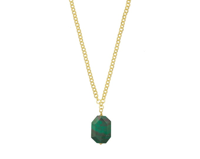 Malachite golden Scarlett necklace