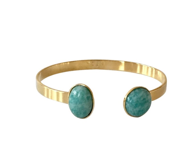 24 karat golden bangle bracelet and Amazon gemstone
