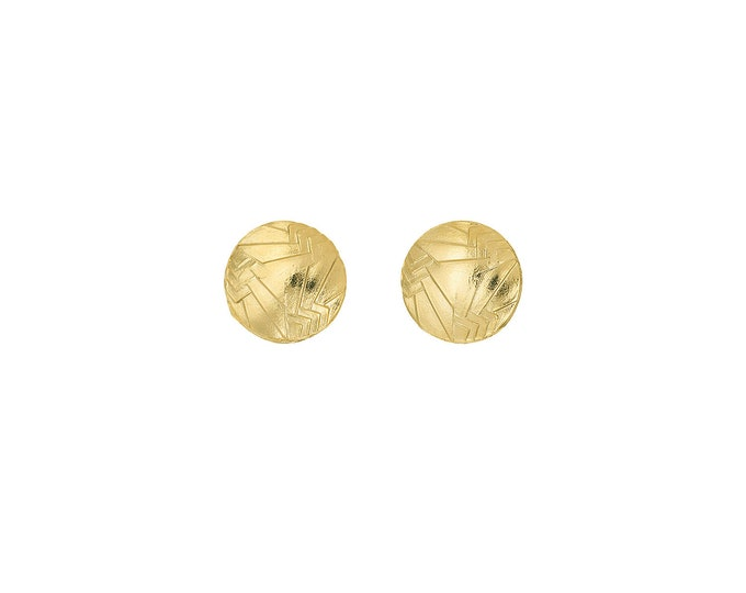 Stud golden earrings Nancy