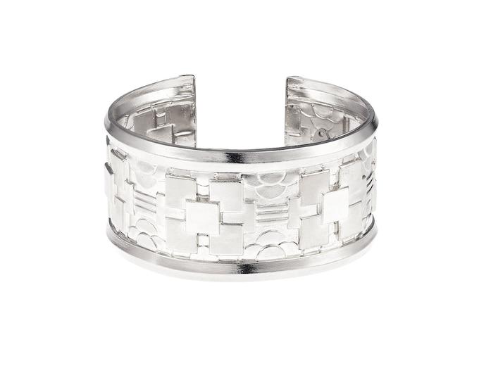 Silver cuff bracelet Nancy