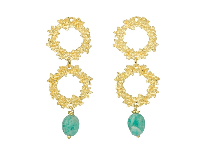 Greta aquamarine gold earrings