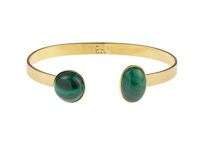 Malachite golden bracelet