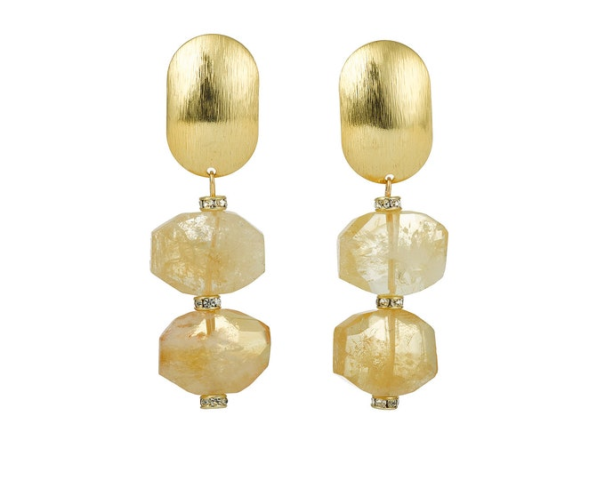 Stella gold and citrine earrings