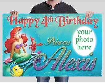 BANNER - Ariel Birthday - Little Mermaid