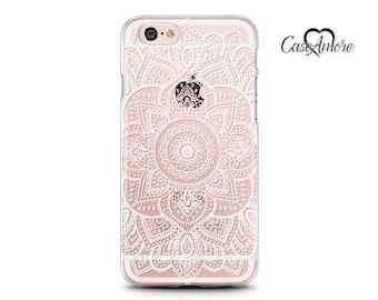 Henna Mandala Art, iPhone 13 case, iPhone 11 Pro case, iPhone 12 case, iPhone XS case, Clear Rubber, Galaxy S20 case, Samsung Galaxy case