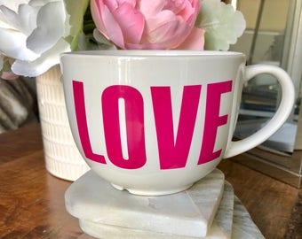 Tea or coffee mug / cup LOVE perfect gift