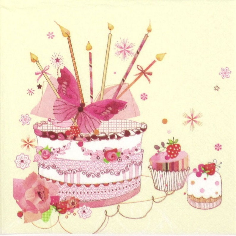 SWEET  MUFFINS for Decoupage Party Craft 4 x Single  Table Paper Napkins