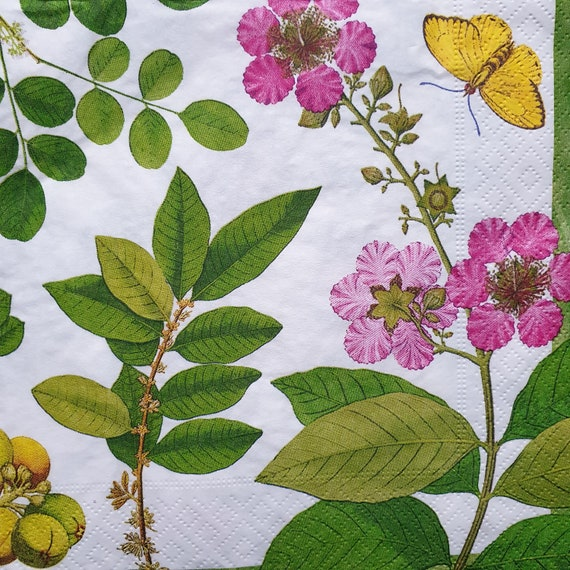 4x Paper Napkins for Decoupage Decopatch Flowering Trees