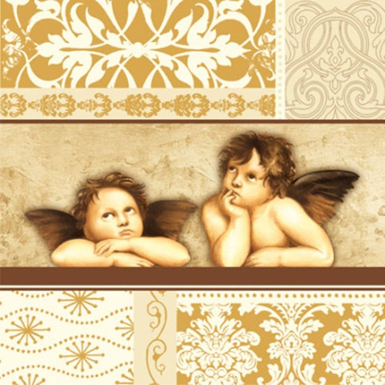 4 x single paper napkins Angels collage project 33 x 33 cm art crafts tissue paper scrap booking paper Brand new decoupage napkins