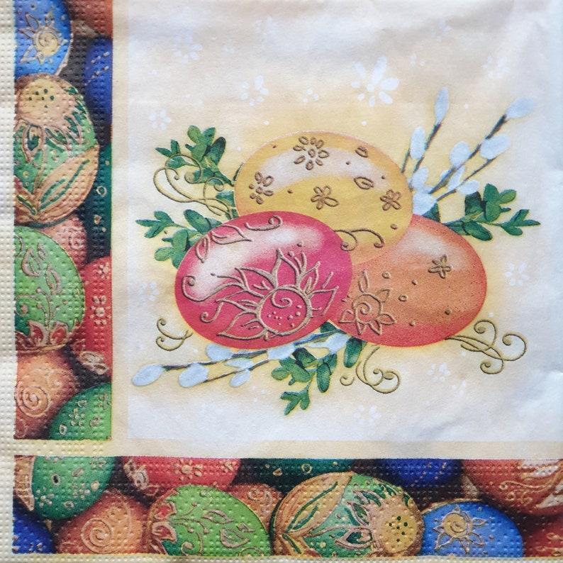 collage paper 3 ply decoupage napkins Easter Bunny serviettes 4 x single paper napkins crafts paper 33 x 33 cm scrap booking paper
