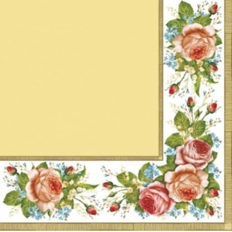 Wines Cream for Decoupage Craft Vintage 4x Paper Napkins