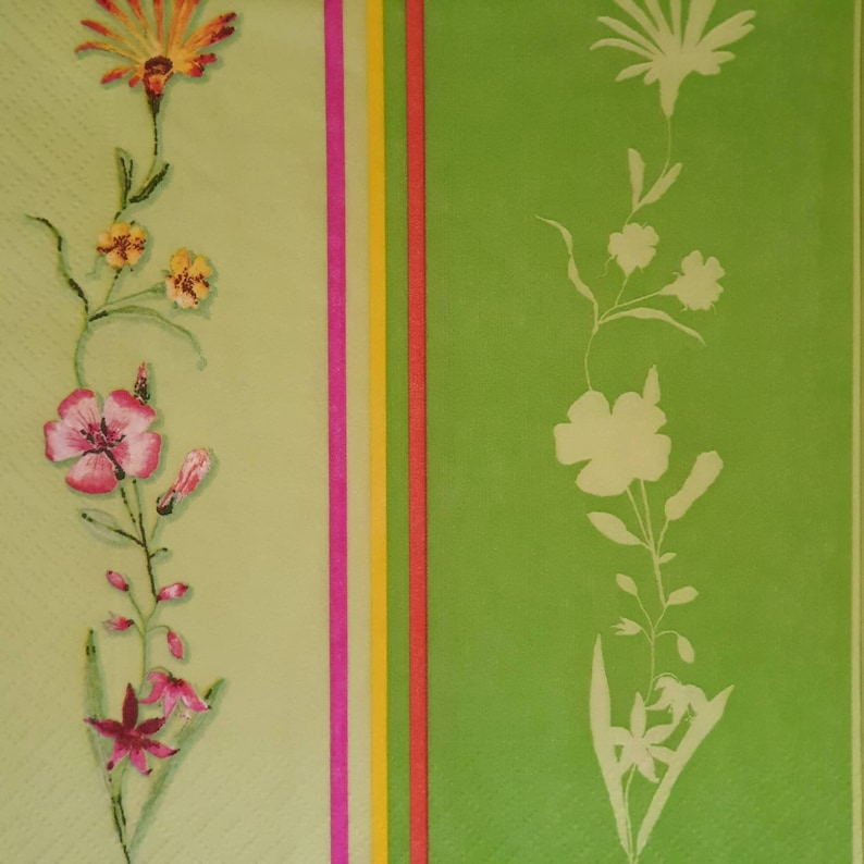 4x Paper Napkins for Decoupage Decopatch Craft Spring