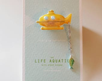 Jacqueline Deep Search Pin / Brooch - The Life Aquatic with Steve Zissou / Wes Anderson Pin / Jewerly / Submarine Pin