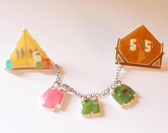 Camping Tent Pin - Moonrise Kingdom Pin / Wes Anderson / Jewelry / Wes Anderson Pin